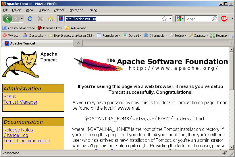 4. Instalujemy serwer Tomcat
